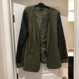 Olive and black blazer
